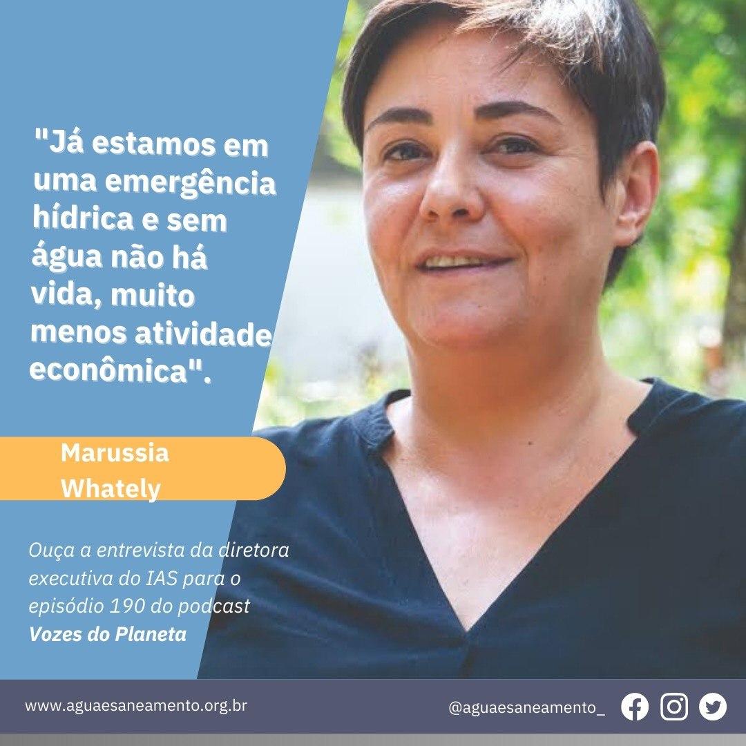 Cadê a água que estava aqui? Marussia Whately fala sobre emergência hídrica no Brasil